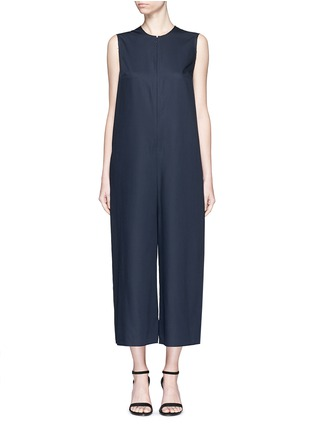 Main View - Click To Enlarge - Ms MIN - Raw edge wool sleeveless jumpsuit