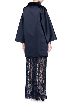 Back View - Click To Enlarge - Ms MIN - Reversible silk satin blanket coat