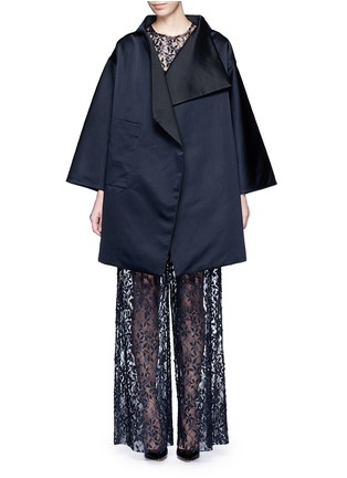 Main View - Click To Enlarge - Ms MIN - Reversible silk satin blanket coat