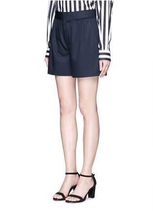 Front View - Click To Enlarge - Ms MIN - Pleated wool shorts
