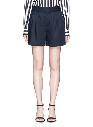 Main View - Click To Enlarge - Ms MIN - Pleated wool shorts