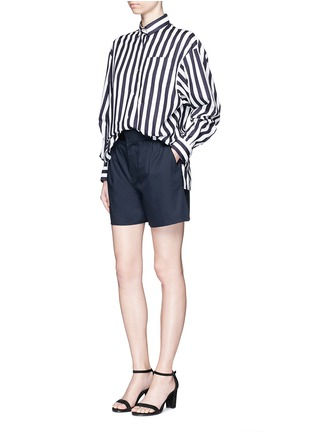 Figure View - Click To Enlarge - Ms MIN - Pleated wool shorts