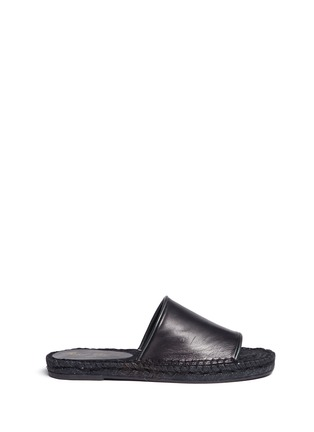 Main View - Click To Enlarge - Robert Clergerie - 'Ela' lambskin leather espadrille slide sandals