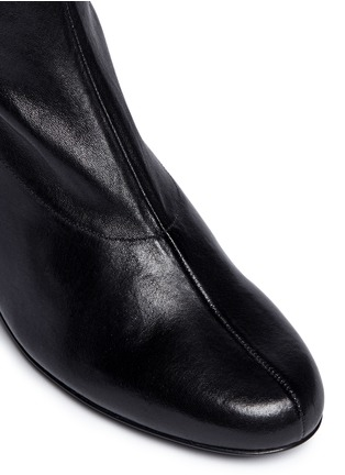 Detail View - Click To Enlarge - Robert Clergerie - 'Ketch' strass pavé heel stretch leather boots