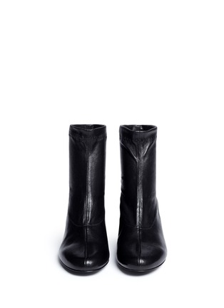 Front View - Click To Enlarge - Robert Clergerie - 'Ketch' strass pavé heel stretch leather boots