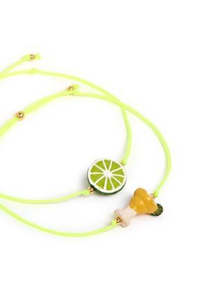 Detail View - Click To Enlarge - Venessa Arizaga - 'Margarita Lime' bracelet set