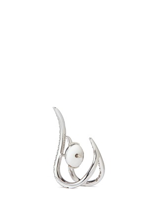 Detail View - Click To Enlarge - MESSIKA - 'Daisy' diamond 18k white gold earrings