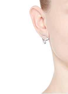 Messika 'Daisy' diamond 18k white gold earrings