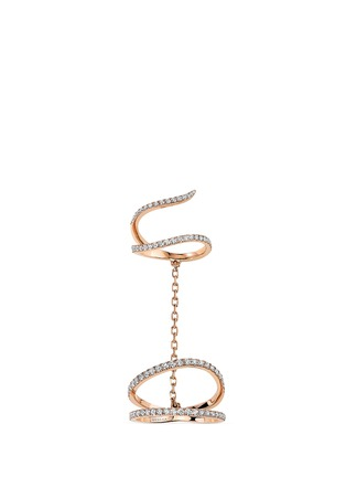 Main View - Click To Enlarge - Messika - 'Gatsby Daisy Double' diamond 18k rose gold ring