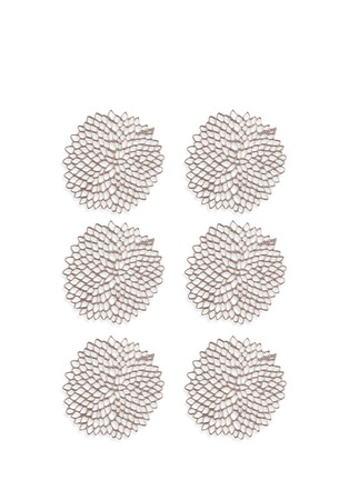 Main View - Click To Enlarge - CHILEWICH - Dahlia coaster set