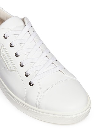 Detail View - Click To Enlarge - Dolce & Gabbana - Leather sneakers