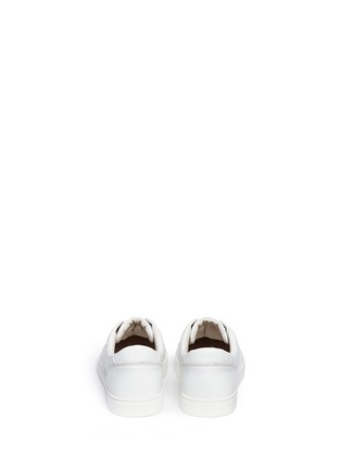 Back View - Click To Enlarge - Dolce & Gabbana - Leather sneakers