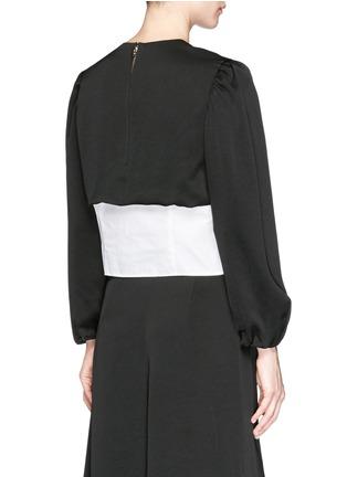 Back View - Click To Enlarge - TOGA ARCHIVES - Front belt poplin insert taffeta crepe top