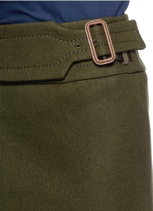 Detail View - Click To Enlarge - SACAI LUCK - Wool felt wrap skirt