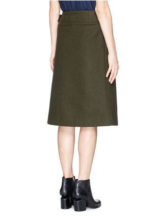 Back View - Click To Enlarge - SACAI LUCK - Wool felt wrap skirt