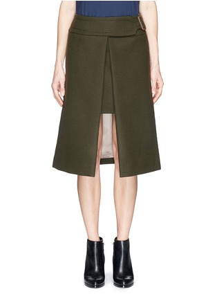 Main View - Click To Enlarge - SACAI LUCK - Wool felt wrap skirt