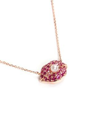 Figure View - Click To Enlarge - Bao Bao Wan - Diamond ruby lips necklace