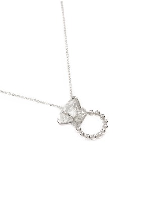 Figure View - Click To Enlarge - BAO BAO WAN - DIAMOND RING WHITE GOLD NECKLACE
