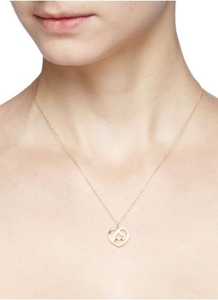 Figure View - Click To Enlarge - CHRISTINE J BRANDT - 'Chinese Zodiac - Ram' 18k gold pendant necklace