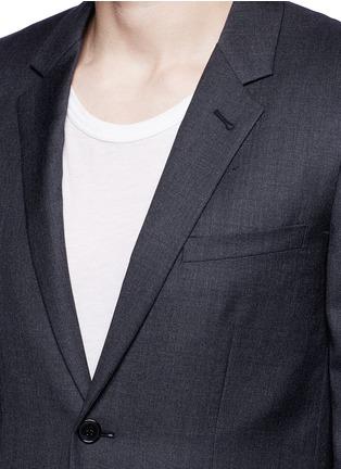 Detail View - Click To Enlarge - SAINT LAURENT - Notch lapel textured wool suit