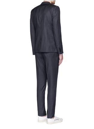Back View - Click To Enlarge - SAINT LAURENT - Notch lapel textured wool suit