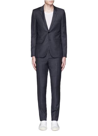 Main View - Click To Enlarge - SAINT LAURENT - Notch lapel textured wool suit