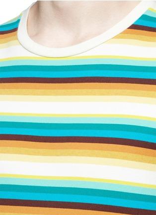 Detail View - Click To Enlarge - SAINT LAURENT - Stripe distressed cotton jersey T-shirt