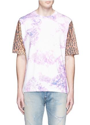 Main View - Click To Enlarge - SAINT LAURENT - Leopard print tie dye effect T-shirt