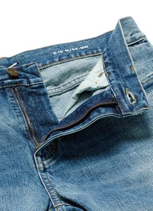 - SAINT LAURENT - Destroyed knee patch skinny jeans