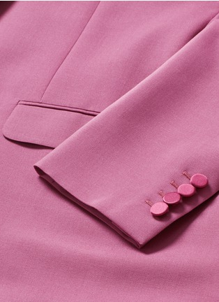 - SAINT LAURENT - Satin shawl lapel wool-Mohair blazer