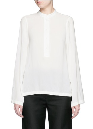 Main View - Click To Enlarge - Helmut Lang - 'Scoop' wide sleeve Cavalry twill top