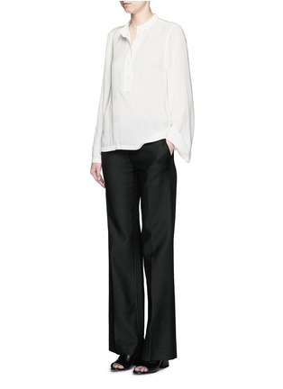 Figure View - Click To Enlarge - Helmut Lang - 'Scoop' wide sleeve Cavalry twill top