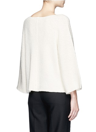 Back View - Click To Enlarge - Helmut Lang - Wide sleeve cashmere-cotton sweater