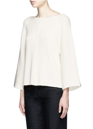 Front View - Click To Enlarge - Helmut Lang - Wide sleeve cashmere-cotton sweater