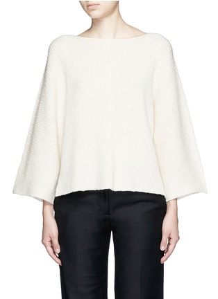 Main View - Click To Enlarge - Helmut Lang - Wide sleeve cashmere-cotton sweater