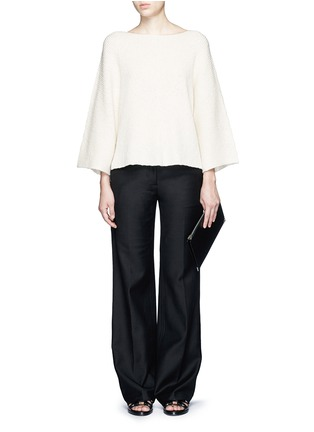 Figure View - Click To Enlarge - Helmut Lang - Wide sleeve cashmere-cotton sweater