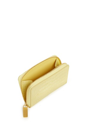 Detail View - Click To Enlarge - Smythson - Mara croc effect leather coin purse