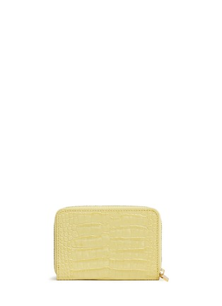 Main View - Click To Enlarge - Smythson - Mara croc effect leather coin purse