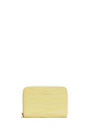 - Smythson - Mara croc effect leather coin purse