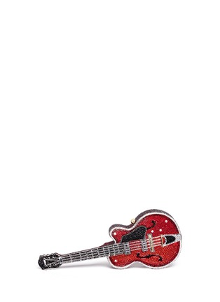Main View - Click To Enlarge - Judith Leiber - 'Red Devil' guitar crystal pavé minaudière
