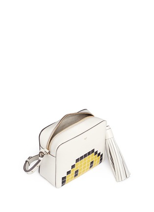 Detail View - Click To Enlarge - Anya Hindmarch - 'Pixel Smiley' embossed leather crossbody bag