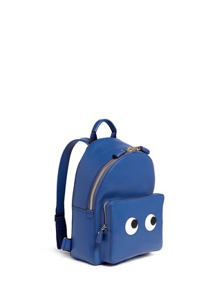 Front View - Click To Enlarge - Anya Hindmarch - 'Eyes Mini' embossed leather backpack