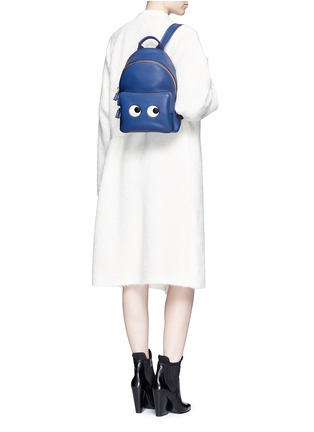 Figure View - Click To Enlarge - Anya Hindmarch - 'Eyes Mini' embossed leather backpack