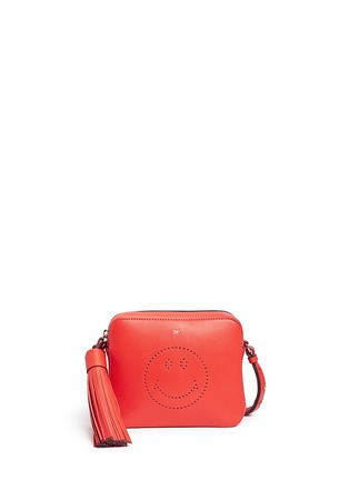 Main View - Click To Enlarge - Anya Hindmarch - 'Smiley' perforated leather crossbody bag