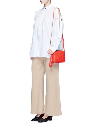 Figure View - Click To Enlarge - Anya Hindmarch - 'Smiley' perforated leather crossbody bag