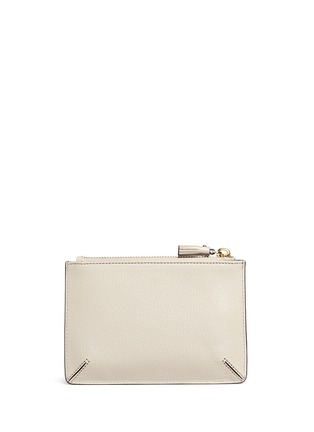 Figure View - Click To Enlarge - Anya Hindmarch - 'Space Invasion Loose Pocket' small leather zip pouch