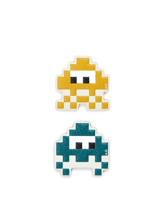 Main View - Click To Enlarge - ANYA HINDMARCH - 'Space Invaders Mini' leather sticker set