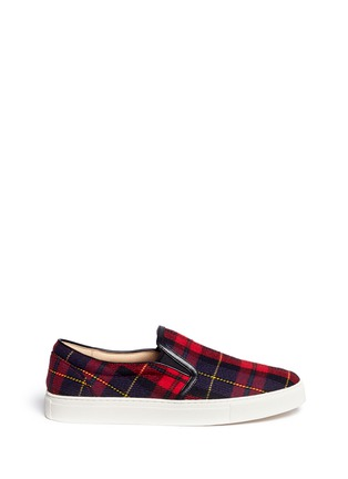 Main View - Click To Enlarge - Pedder Red - Tartan check flannel slip-ons