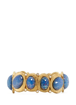 Main View - Click To Enlarge - Kenneth Jay Lane - Opalescent glass cabochon hinge bangle