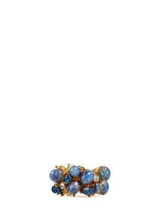 Main View - Click To Enlarge - Kenneth Jay Lane - Opalescent glass cabochon cluster ring